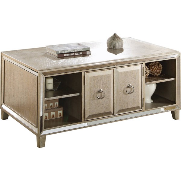 Acme Furniture Voeville Antique Gold Coffee Table with Lift Top ACM-81200