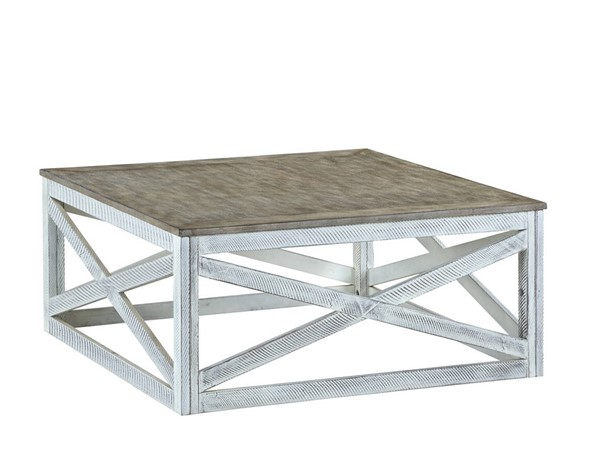 Acme Furniture Avianna Gray Oak Antique White Coffee Table ACM-81265