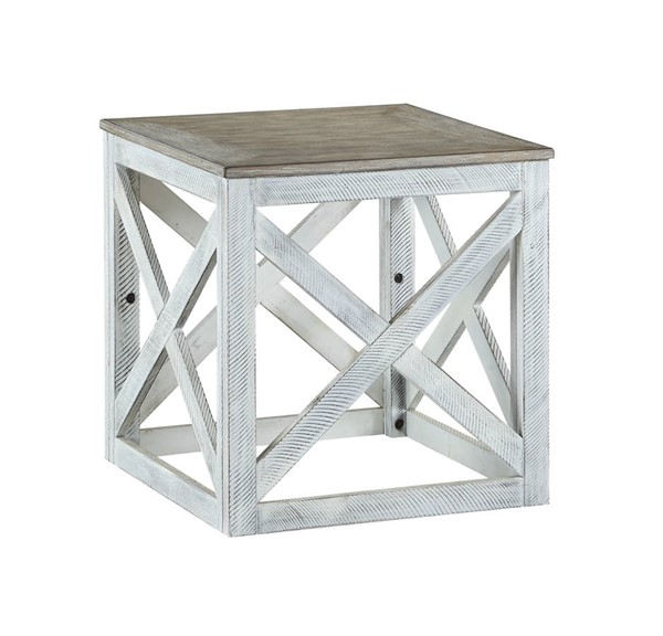 Acme Furniture Avianna Gray Oak Antique White End Table ACM-81267