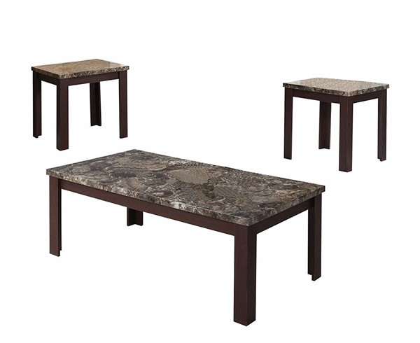Acme Furniture Carly Cherry 3pc Coffee Table Set ACM-81402