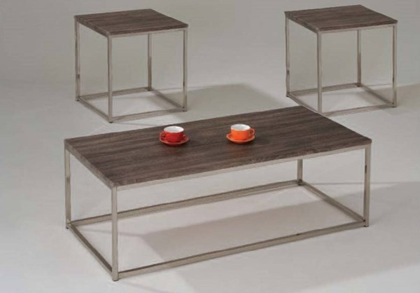 CecilMetal Wood 2pc Coffee/End Table Set ACM-81498-S