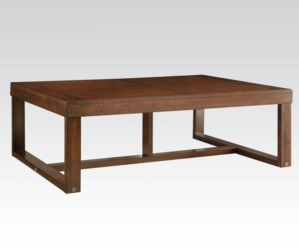 Marley Walnut Wood Rectangle Coffee Table ACM-81510