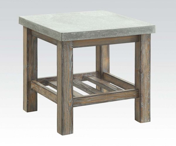 Parker Frosted Gray Wood Square End Table ACM-81591