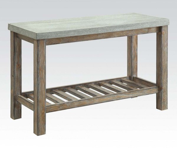 Parker Frosted Gray Wood Rectangular Sofa Table ACM-81592