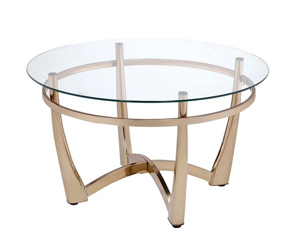 Acme Furniture Orlando II Champagne Clear Coffee Table ACM-81610