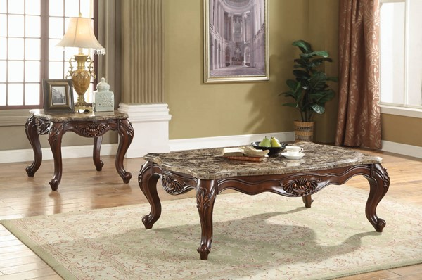 Acme Furniture Jardena Cherry Oak 3pc Coffee Table Set ACM-81655-57-OCT-S1