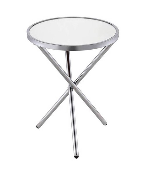 Acme Furniture Lajita Silver Side Table ACM-81818