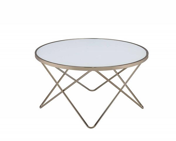 Acme Furniture Valora Frosted Coffee Table ACM-81825