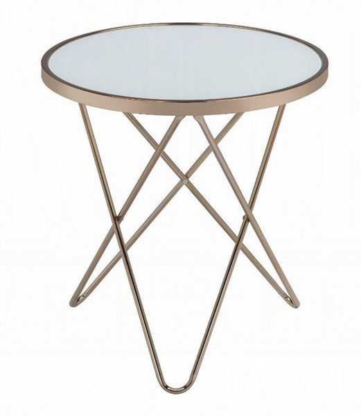 Acme Furniture Valora Champagne End Table ACM-81827