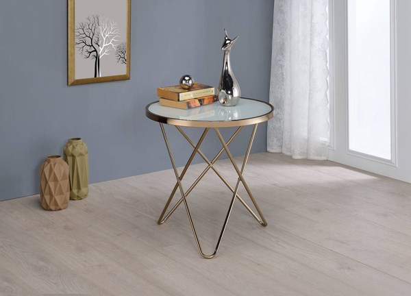 Acme Furniture Valora Frosted End Table ACM-81827