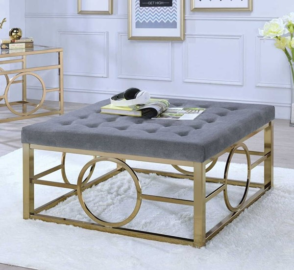 Acme Furniture Jaxson Champagne Cocktail Ottoman ACM-82050