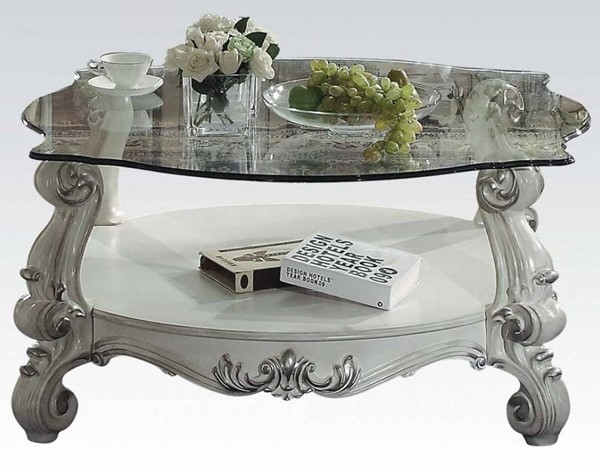 Acme Furniture Versailles Bone White Rectangle Coffee Table ACM-82085