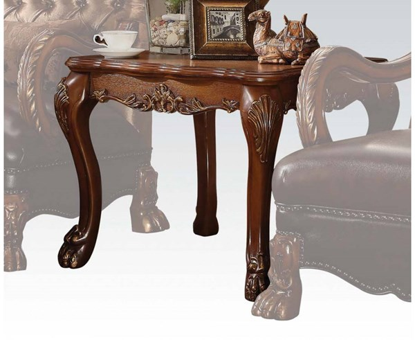 Dresden Traditional Cherry Oak Wood End Table ACM-82096