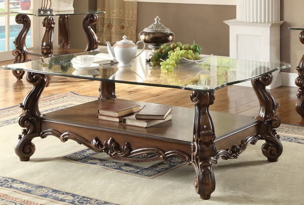 Acme Furniture Versailles Cherry Oak Storage Coffee Table ACM-82100