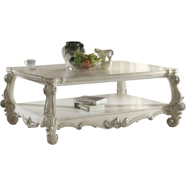 Acme Furniture Versailles White Coffee Table ACM-82123