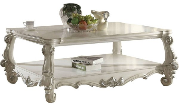 Acme Furniture Versailles White Wood Coffee Table ACM-82123