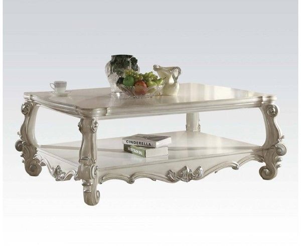Versailles Traditional White Wood Coffee Table ACM-82123