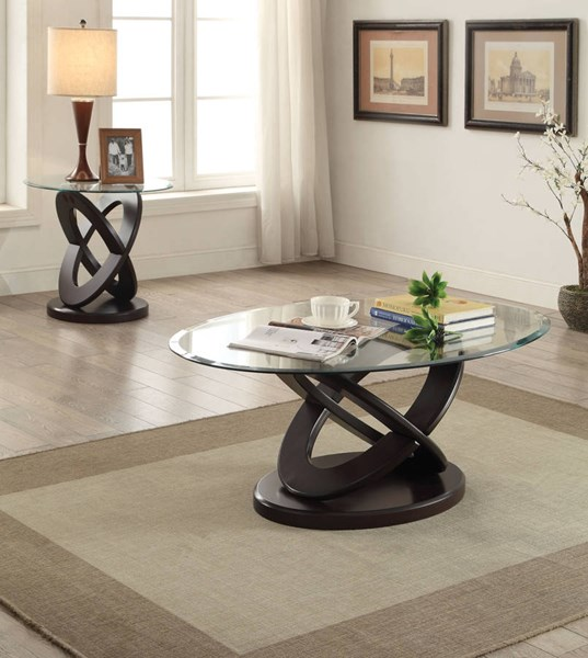 Gable Espresso 3pc Coffee Table Set ACM-8216-OCT-S1