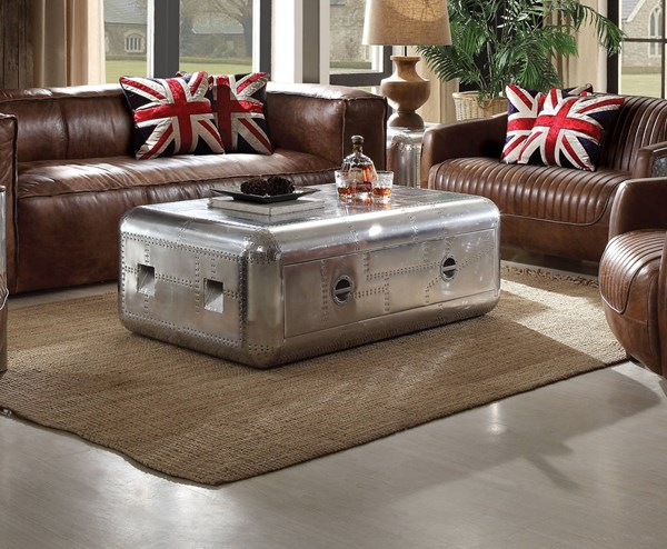 Brancaster Aluminum Wood Coffee Table Set ACM-8218-OCT