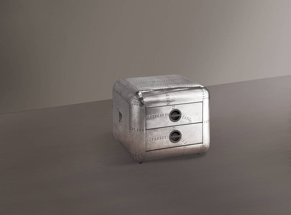 Brancaster Aluminum Wood End Table ACM-82182