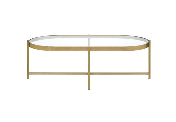 Acme Furniture Charrot Clear Glass Gold Coffee Table ACM-82305