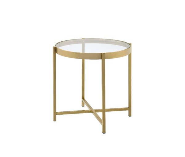 Acme Furniture Charrot Gold End Table ACM-82307
