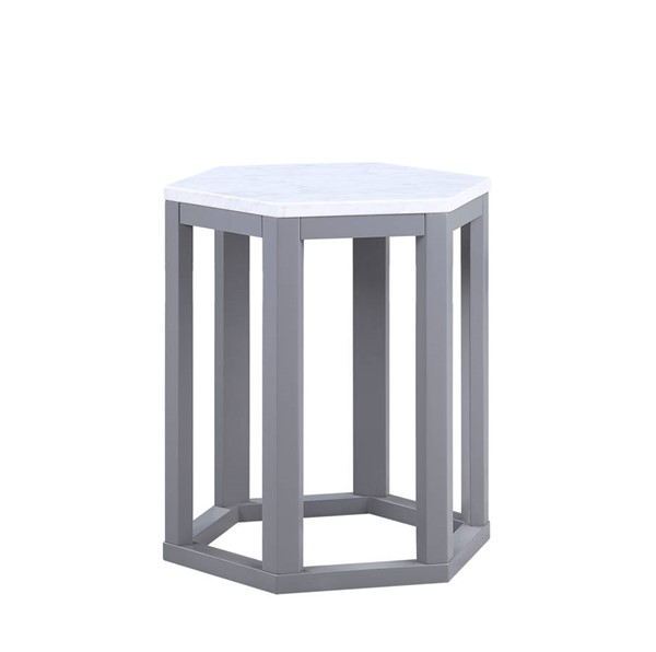 2 Acme Furniture Reon Gray End Tables ACM-82452