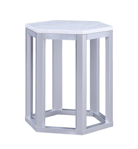 2 Acme Furniture Reon Silver End Tables ACM-82457
