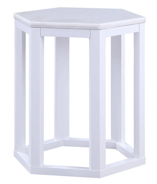 2 Acme Furniture Reon White End Table ACM-82462