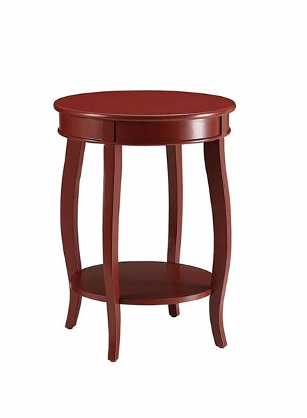 Acme Furniture Aberta Red Round Side Table ACM-82787