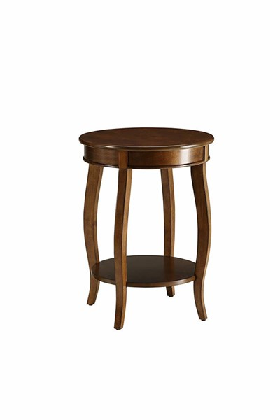 Acme Furniture Aberta Walnut Round Side Table ACM-82789