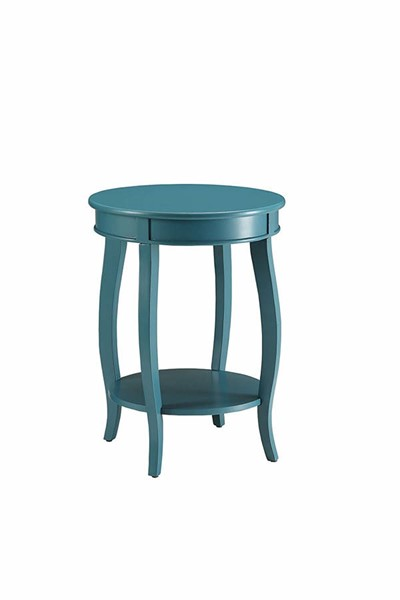 Acme Furniture Aberta Teal Round Side Table ACM-82790