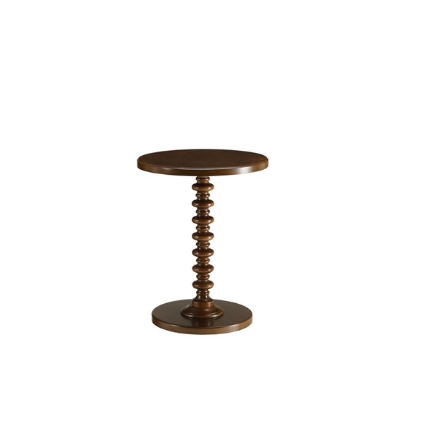 Acme Furniture Acton Walnut Round Spindle Side Table ACM-82792