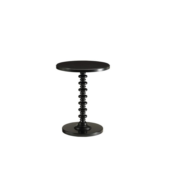 Acme Furniture Acton Black Round Spindle Side Table ACM-82794
