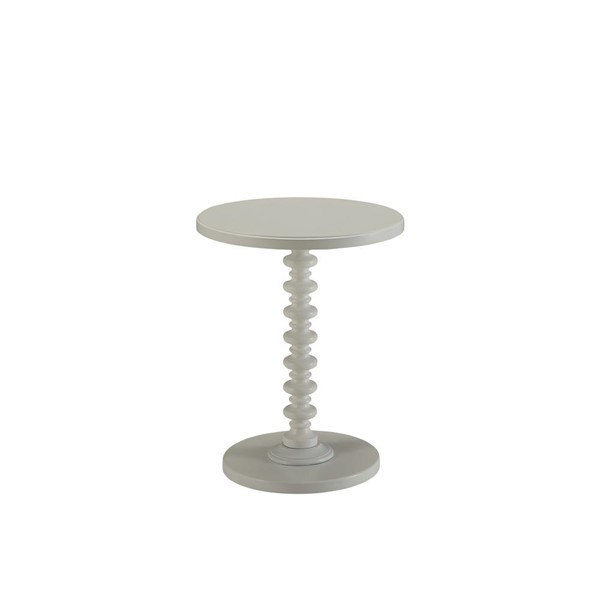 Acme Furniture Acton White Round Spindle Side Table ACM-82796