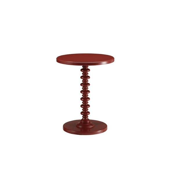 Acme Furniture Acton Red Round Spindle Side Table ACM-82800