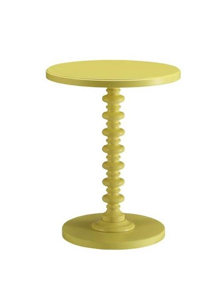 Acme Furniture Acton Yellow Round Spindle Side Table ACM-82802
