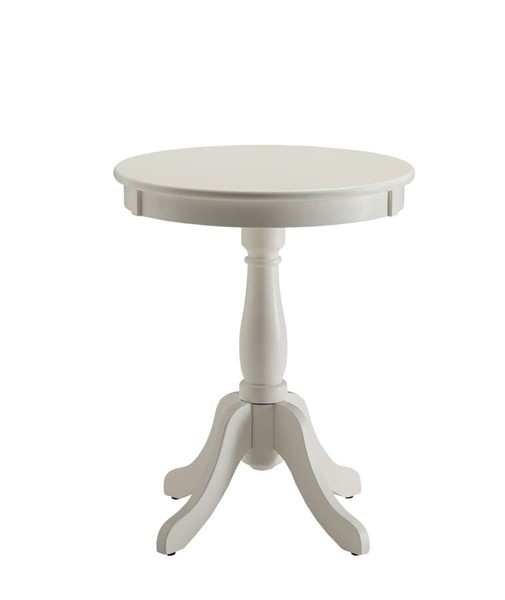 Acme Furniture Alger White Solid Wood Side Table ACM-82804