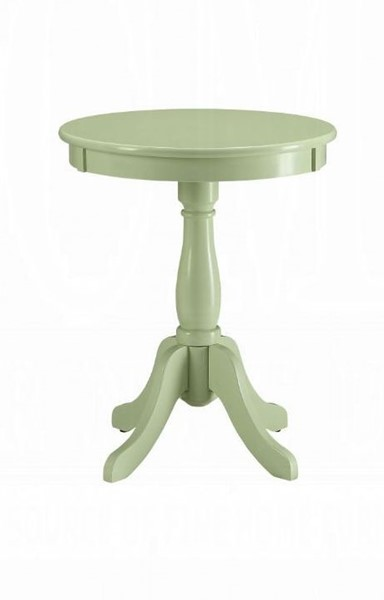 Acme Furniture Alger Light Green Solid Wood Side Table ACM-82810