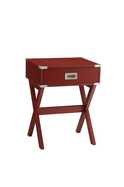 Acme Furniture Babs Red End Table ACM-82820