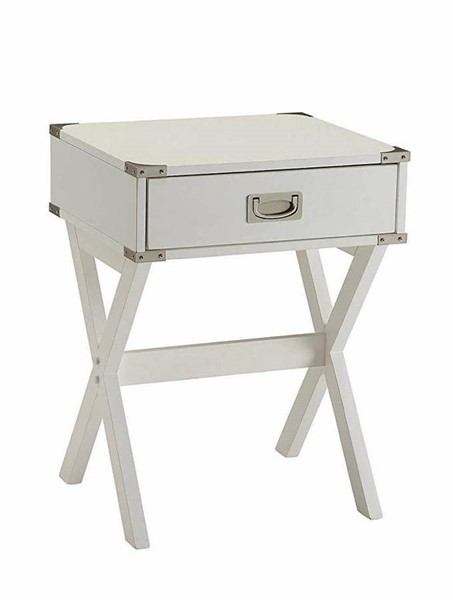 Acme Furniture Babs White End Table ACM-82824