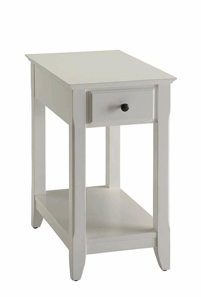 Acme Furniture Bertie White Side Table ACM-82842