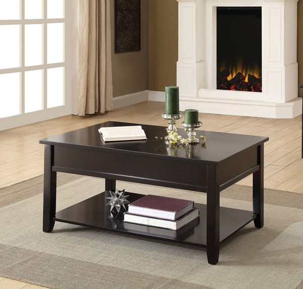 Acme Furniture Malachi Black Coffee Table with Lift Top ACM-82950