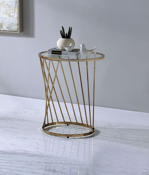 Acme Furniture Bluelipe Champagne End Table ACM-82992