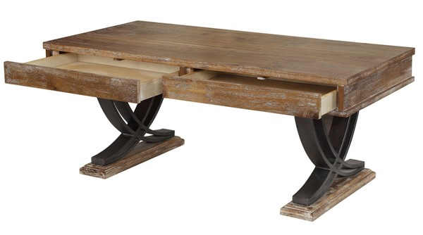 Acme Furniture Pellio Antique Oak Coffee Table ACM-83055