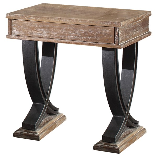 Acme Furniture Pellio Antique Oak End Table ACM-83057