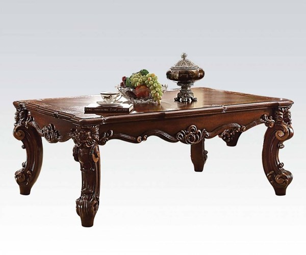 Vendome II Traditional Cherry Wood MDF 3pc Coffee Table Set ACM-831-OCT-S2