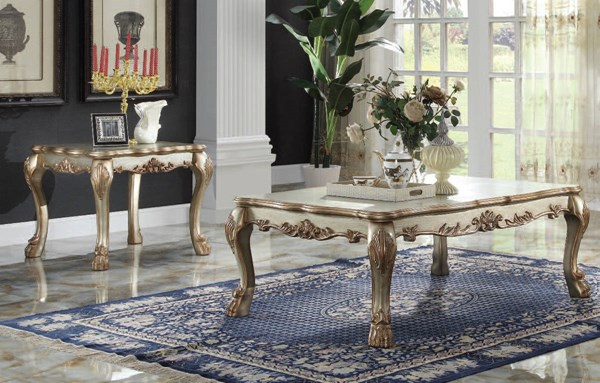 Dresden Gold Patina Wood 3pc Coffee/End Table Set ACM-83160-61-OCT-S