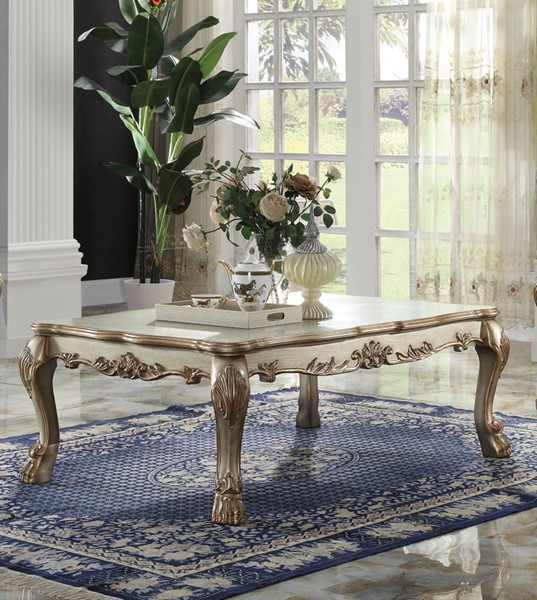 Acme Furniture Dresden Gold Patina Coffee Table ACM-83160