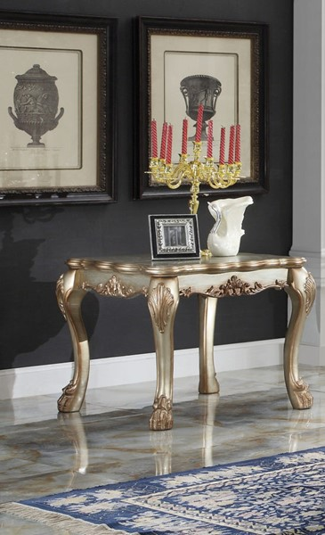 Acme Furniture Dresden Gold Patina End Table ACM-83161